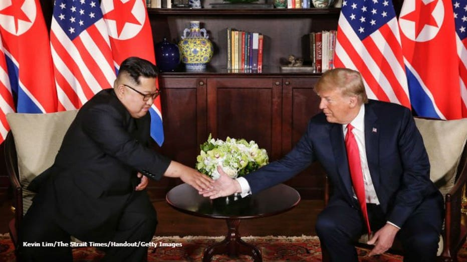 President Trump Meets North Korean Leader Kim Jong-un