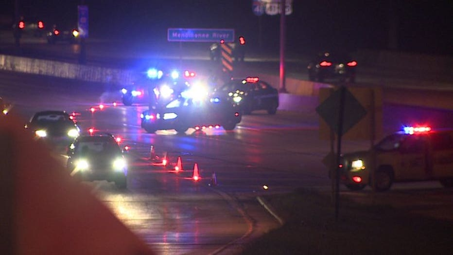 Shooting incident on I-41 at Hampton Ave.