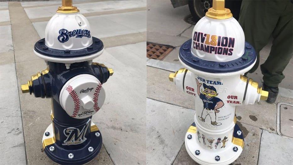 Milwaukee Brewers fire hydrants