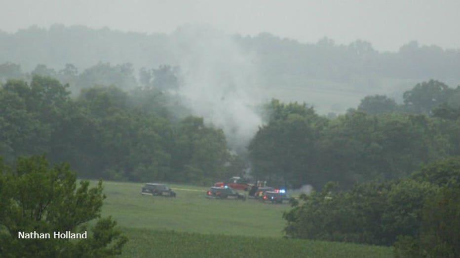 Green County plane crash (PHOTO: Nathan Holland)