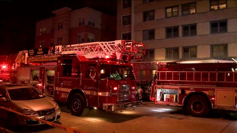Fire at apartment complex on Knapp Street in Milwaukee