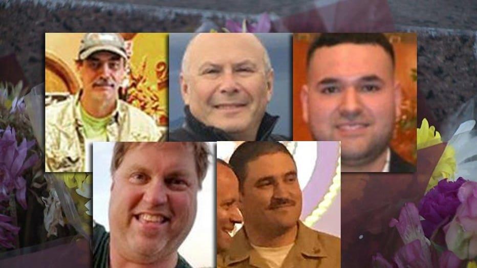 Miller Brewery shooting: Dale Hudson, Gene Levshetz, Jesse Valle Jr., Dana Walk, Trevor Wetselaar