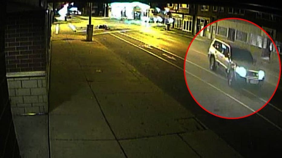 SUV sought in hit-and-run crash