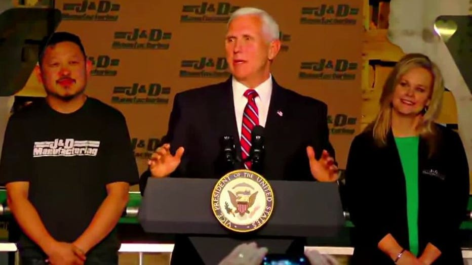 Vice President Mike Pence speaks at Eau Claire business about trade