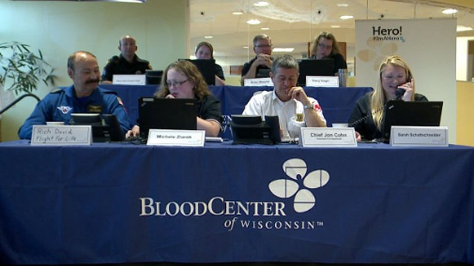 BloodCenter of Wisconsin phone bank