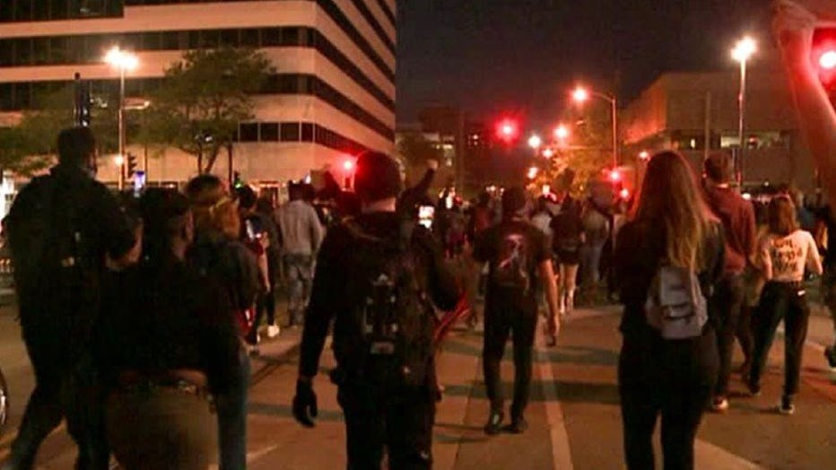 Protests remain peaceful overnight in Milwaukee