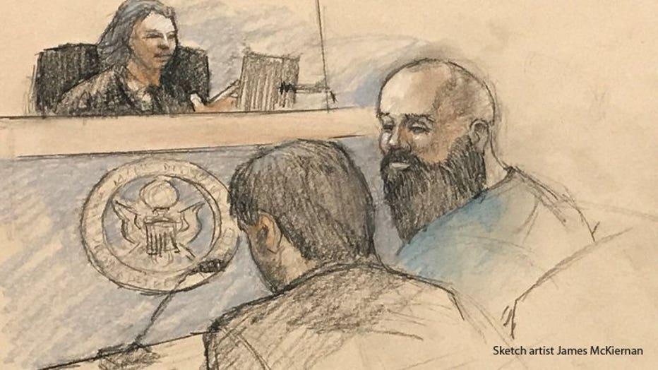 Jeremy Ryan courtroom sketch