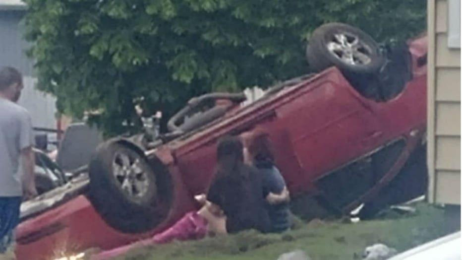 Crash near 14th and Wisconsin in Sheboygan