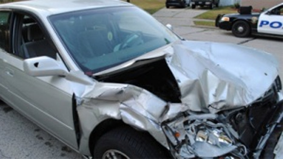 Suspect's car