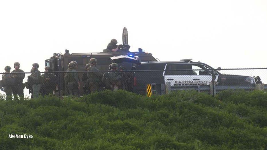 Standoff near Oconomowoc (PHOTO: Abe Van Dyke)