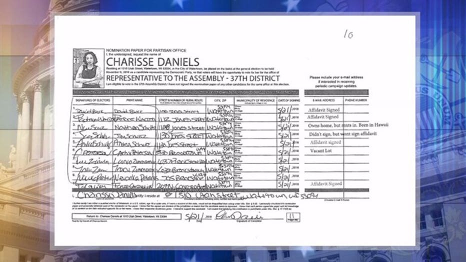 Charisse Daniels signatures collected