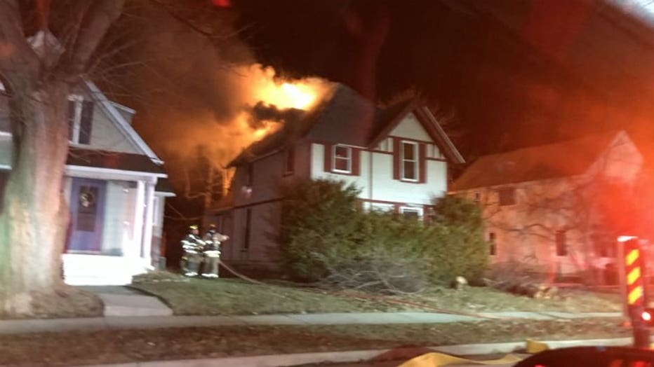 House fire on Greenfield Avenue and Ellis Street in the City of Waukesha