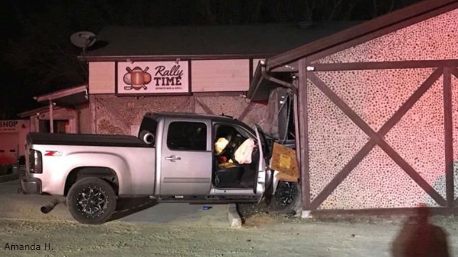 Driver strikes transformer box, bar in West Bend (PHOTO: Amanda H.)