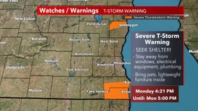 Severe T-storm warning for Sheboygan County until 5 p.m.