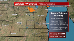 Severe T-storm warning for NW Fond du Lac County canceled