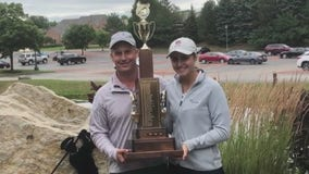 Home from college due to pandemic, Wales golfer wins state tourney with dad
