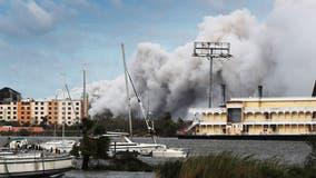 Chemical fire billows near Lake Charles in Hurricane Laura's wake