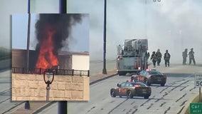Semi-truck fire shuts down I-794 near Oklahoma Avenue