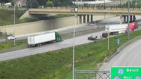Traffic Alert: Jackknifed semi shuts down northbound I-94 tunnel to go west to I-43