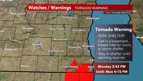 Tornado warning issued for Kenosha, Racine, Walworth counties until 4:15 p.m.