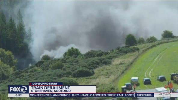 'Serious injuries' rising from train derailment in Scotland