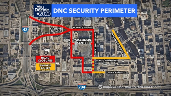 DNC road closures begin Friday night; Secret Service security plans take effect