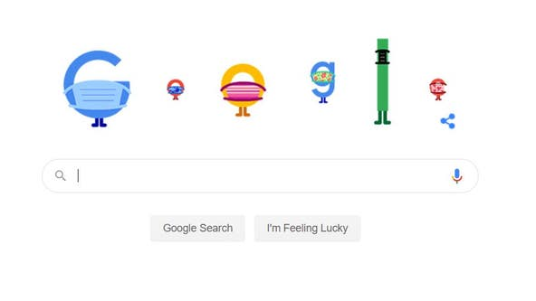 Google Doodle tells users to 'wear a mask, save lives' in public service announcement