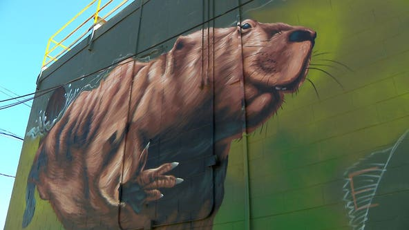 Harbor District mural pays homage to Milwaukee River's ecological history