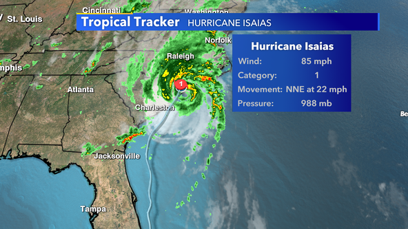 Hurricane Isaias makes landfall in North Carolina as Cat 1 storm