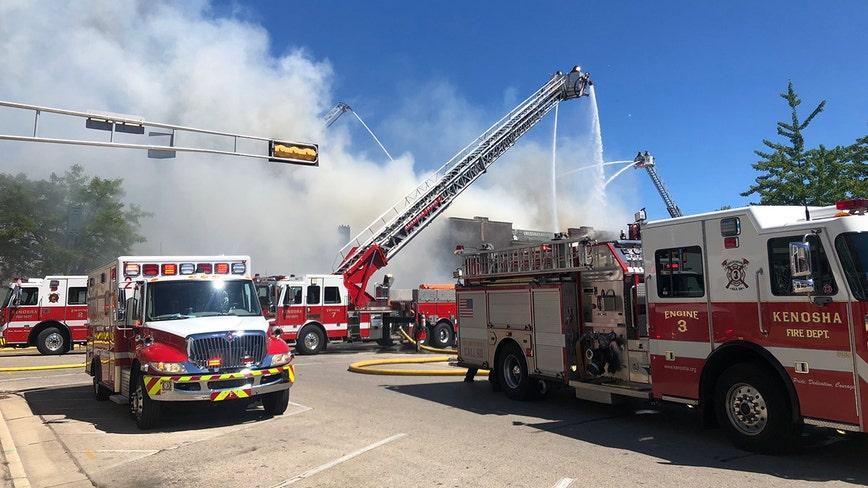 Kenosha firefighters battle structure fire on 22nd Avenue near 61st Street