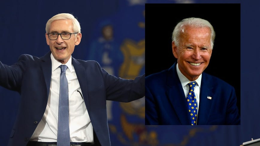 'Will unite our country:' Gov. Tony Evers endorses Joe Biden for president