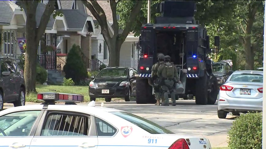 Heavy law enforcement presence seen near 74th and Grant in West Allis