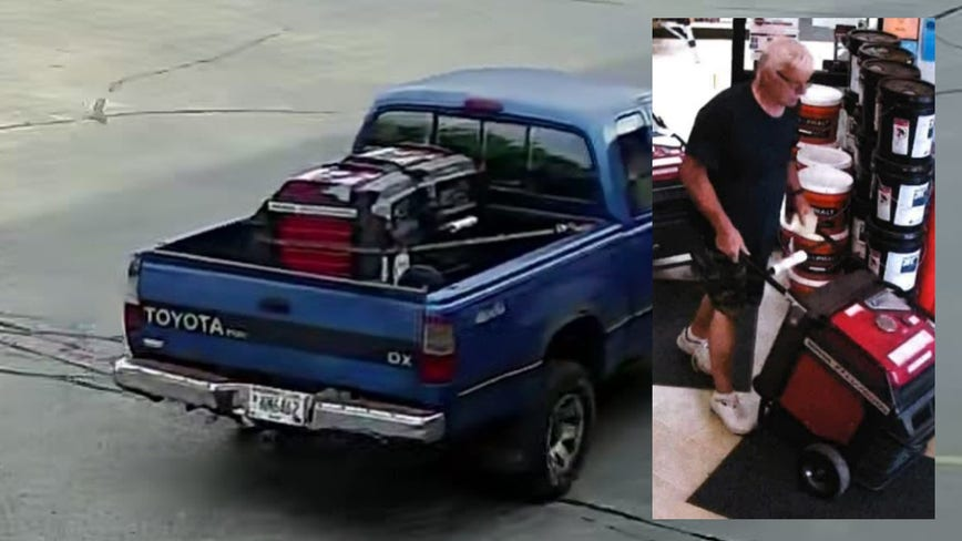 Menomonee Falls police seek suspect who stole 2 generators from Neu's Building Center