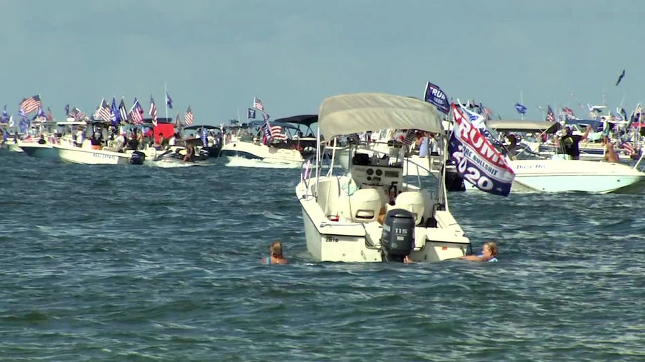 Clearwater Christmas Boat Parade 2020 Trump supporters set sail in Clearwater in attempt to set world record