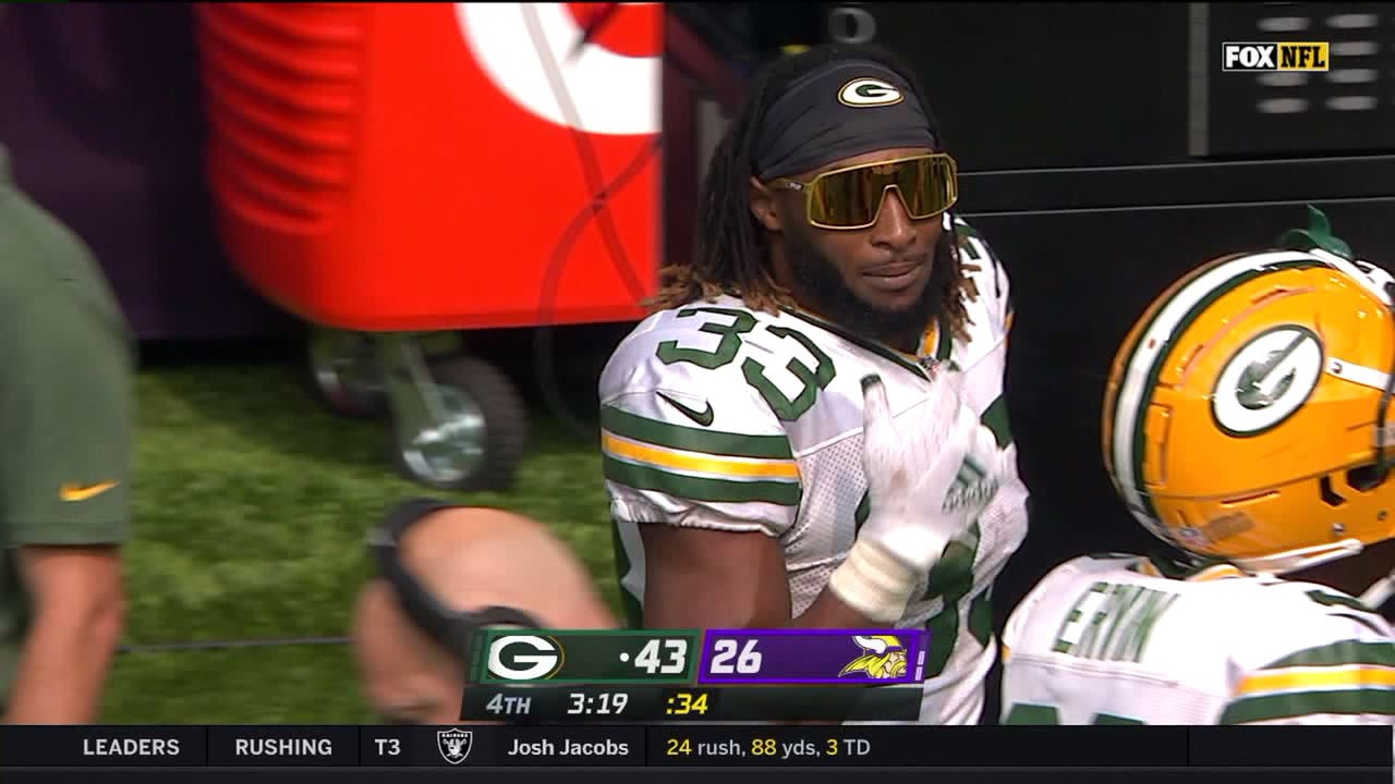 I Feel Invisible In These Packers Star Aaron Jones Rocks These Funky Shades Essentiallysports