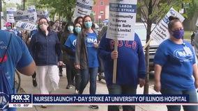Over 800 nurses begin strike at Chicago hospital