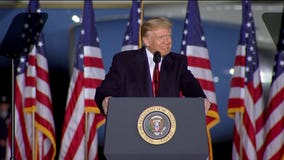 President Trump touts jobs at Mosinee, Wisconsin event