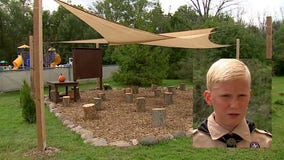 New Berlin teen creates outdoor COVID classroom for Eagle Scout project