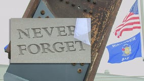 Armed forces flags raised at Wisconsin 9/11 Memorial