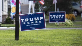 Massachusetts man puts up electric fence to protect Trump 2020 lawn sign