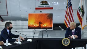 California governor gently confronts Trump on climate change