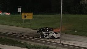 3 taken to hospital following crash on I-894 near Loomis