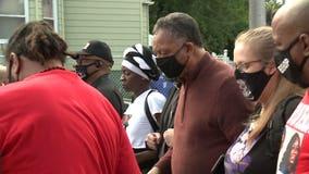 Rev. Jesse Jackson joins march for Breonna Taylor, Jacob Blake