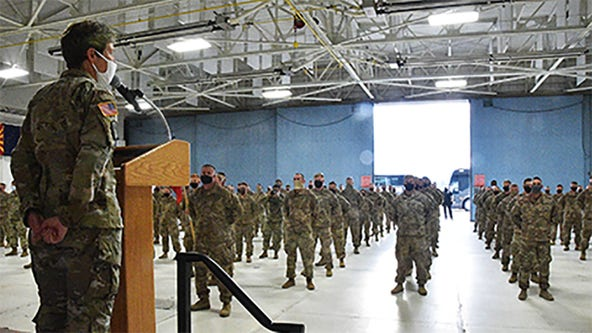 150 Wisconsin National Guard soldiers return from Middle East