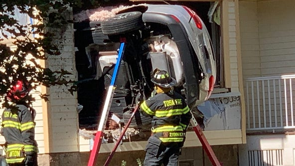 Car crashes into home near 64th and Meinecke