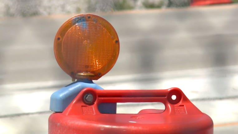 road construction barrel