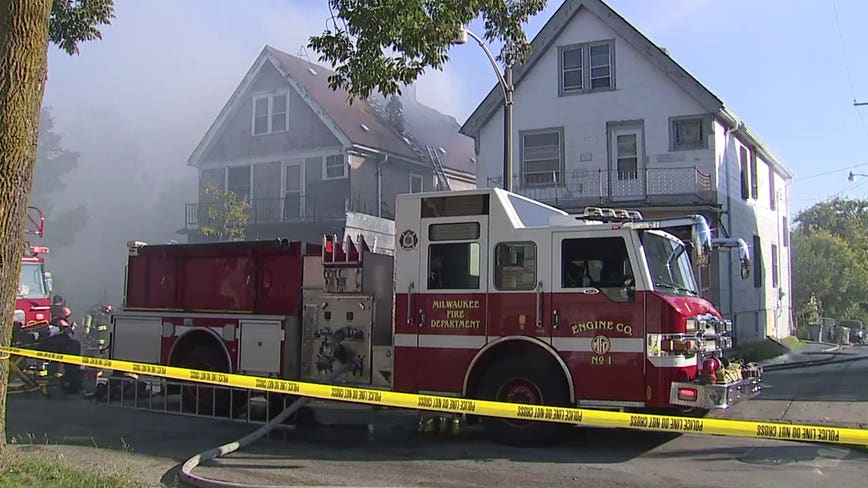 MFD: Fire near 33rd and Vliet damages 3 homes, displaces 16