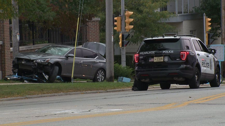 MPD: 4 arrested in pursuit, crash near Humboldt and Garfield