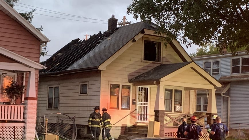 Boy, 12, escapes Milwaukee house fire by jumping from roof