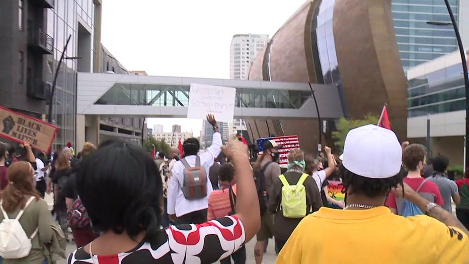 Milwaukee rally held calling for justice in the police shooting of Jacob Blake